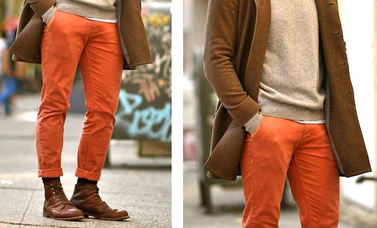 chino orange rouille - look 2