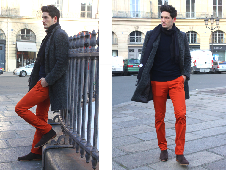 chino orange rouille - look 1