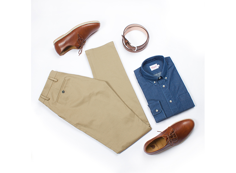comment porter chino beige