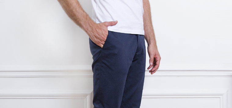 Photo de pantalon Chino Bleu Marine