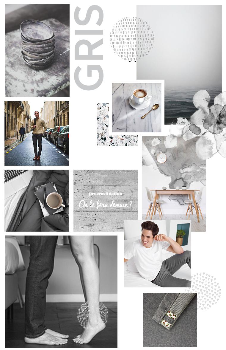Planche d'inspiration autour du gris
