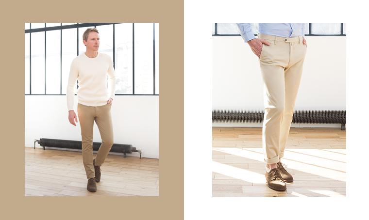 pantalon beige chaussure marron,pantalon chino beige homme