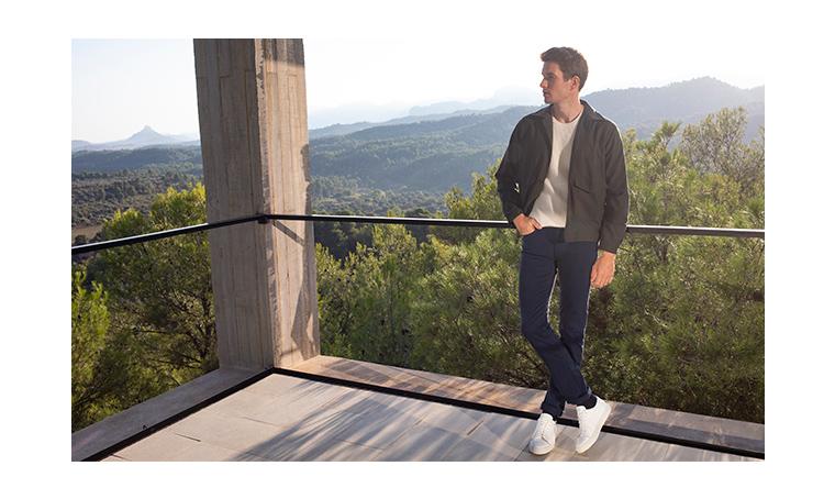 Pantalon 5 poches bleu marine